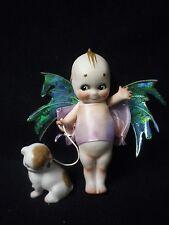 """6"""" Artist Made Porcelain Kewpie Fairy/Doodle Dog"""