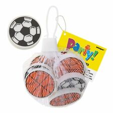 Pack of 32 Football Basketball and Rugby Ball Erasers - Party Bag Toys Fillers