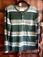 Koto Urban Outfitters mens long sleeve stripe aztec tribal Henley shirt top S