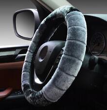 38cm Car Gray Steering Wheel Cover Winter Plush Warm Furry Fluffy Car Protector