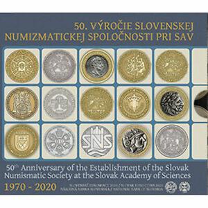 2020 Slovakia 8-Coin Standard EURO BU Set Slovak Numismatic Society 50 Years