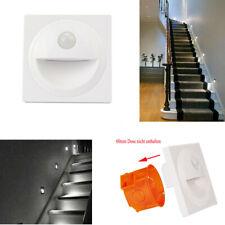 4X LED Treppenbeleuchtung mit Bewegungsmelder Treppenlicht Stufenlicht Rund 60mm