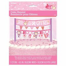 Pink Clothesline- Baby Shower Party Supplies Games Tableware Decorations Boy Cake Banner X 1