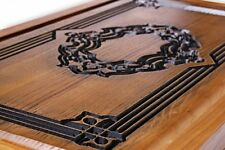 Large Backgammon Hand Made Carved Wood NEW 22.83 in 100% oak wooden NIB
