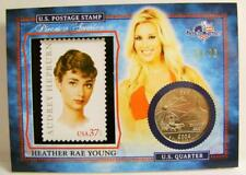 HEATHER RAE YOUNG 10/22 PLAYBOY STAMP QUARTER AMERICA THE BEAUTIFUL BENCH WARMER