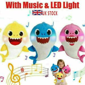 Baby Cartoon Plush Shark Toys Soft English Musical Dolls Gift For Kid Boys Girls