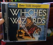 Witches and Wizards Clipart - Over 1500 Images -  PC CD ROM - FREE POST