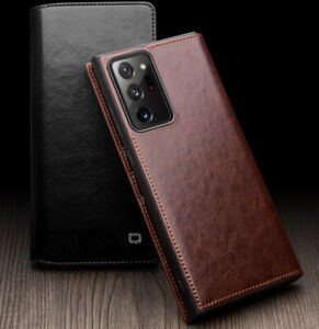 QIALINO Genuine Leather Flip Wallet Case Cover f Samsung Galaxy Note 20 Ultra 5G