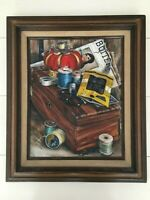 T. Dawson Sewing Butterick Pattern Framed Wall Art Painting Print on Canvas