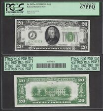 $20 1928-B=FRN=DGS=AMAZING COLORING=HIGH GRADE=PCGS SUPERB GEM NEW 67 PPQ