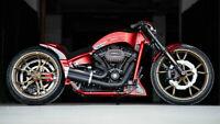 Custom Motorcycle Harley Davidson Thunderbike Silk poster 24 X 14 inch wallpaper