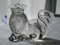 Villeroy & Boch Löwe mit Krone Kristallglas Sammlerfigur 8,5 cm hoch