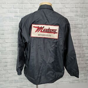 Vintage Pla-Jac Dunbrooke Mens XL Mustang Motorcycles Marty Embroidered Jacket