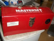 "MASTERSET Stack-On R-516-2 Hip Roof Tool Box 16""x7""x7-1/2"" Steel RED w/ SHELF"