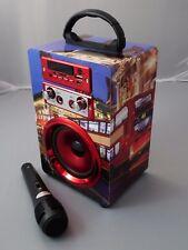 Musikbox Karaoke Bluetooth Lautsprecher Mikrofon Radio USB Speaker Musikanlage
