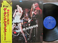 THE RUNAWAYS debut JAPAN LP w/OBI+G/F PS Cherie Currie PS RJ-7165  Free S&H/P&P