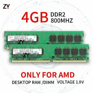 8GB 2x 4GB 2GB 1GB DDR2 2Rx4 PC2-6400 800 AMD DIMM Desktop RAM For Hynix Lot UK