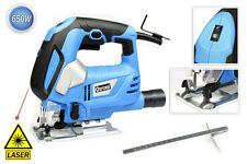 Seghetto alternativo con laser guida 650 watt lama 65 mm 6 velocità sega legno