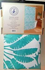 Caribbean Joe Tropic Leaf Multi-Colored Shower Curtain Fabric 70 x 72