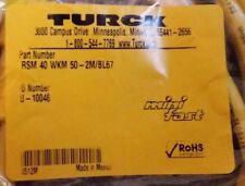 New Turck Rsm 40 Wkm 50 2mbl67 78 Minifast 4 Wire 1m Cordset U 10046