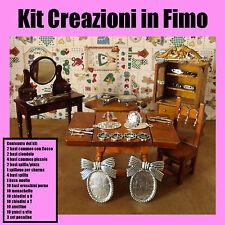 KIT CREAZIONI IN FIMO basi e minuteria bigiotteria per creare miniature e bijoux