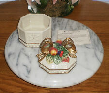~~ONE (1) RETIRED FITZ AND FLOYD SNOWY WOODS LIDED PORCELAIN BOX~IMMEDIATE SHIP!