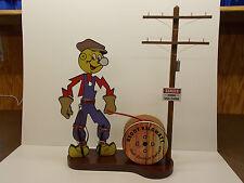 REDDY KILOWATT FREE STANDING LINEMAN CHARACTER DIORAMA  GREAT ELECTRICIAN GIFT!