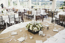 """30 Burlap Table Runners 18"""" x 120"""" Extra Wide Wedding Event 100% Natural Jute"""