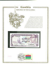 GAMBIA 1 DALASI Banknote WORLD CURRENCY COLLECTION Paper Money UNC Stamp MINT