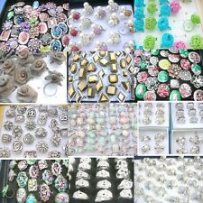 50 pcs fashion rings wholesale cheap rings best value lot *Ship From US/Canada*