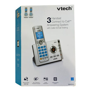 VTech Cordless Phone DS6722-3 DECT 6.0 Answering System Link to Cell 3 Bluetooth