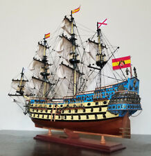 "San Felipe 32"" wood ship model sailing tall Spanish boat"