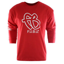 FUBU FB LONG SLEEVE SHIRT MEN SMALL (S) RED 25TH ANNIVERSARY COLLECTORS EDITION