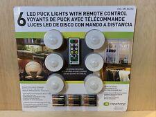 6 Capstone Led Puck Lights w/ Remote Control 18 Batteries Wireless W 3M M79E