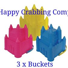 DELUX CRAB FISHING DROP NET 3 NEON COLOURS AVAILABLE ** FREE HAND REEL**