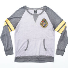 Harry Potter Gray Varsity Crewneck Sweater Sz Large Embroidered logo L