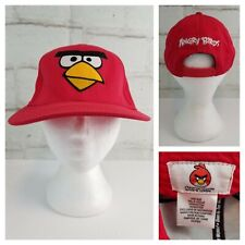 Angry Birds Red Adjustable Snapback Ball Cap Hat 100% Cotton One Size Fits Most