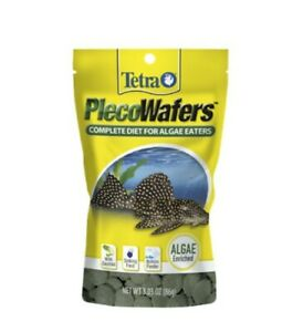 LOT OF 6 Tetra PlecoWafers 3.03 Nutritionally Balanced Fish Food Algae Eaters