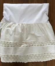 Ll Bean Full Size Bed Skirt 100% cotton, crocheted, cream colored