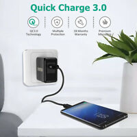 CHOETECH 18W Quick Charge QC 3.0 USB Wall Charger Fast Charging Adapter US Plug