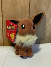 "Pokémon 1998 Hasbro Nintendo Eevee Stuffed Toy 5"" Beanie Plush New With Tag"
