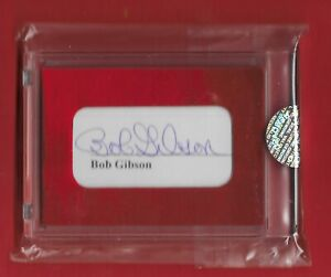 2021 The Bar Super Pieces Authentic AUTO (JSA) Bob Gibson 1/1