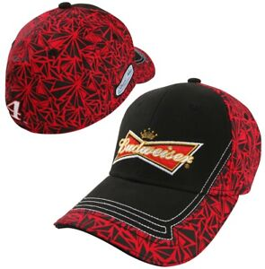 Kevin Harvick #4 2014 Budweiser Hat Cap Stretch fit Official Trackside Apparel