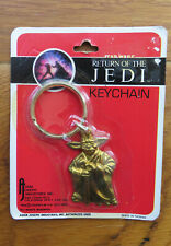 Star Wars ROTJ -1983 Metal Key Chain / Key Ring - YODA Sealed - Lucasfilms