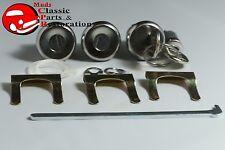 66 Chevelle 69 GTO Pontiac B-Body Glove Trunk Door Locks Later Style Round Keys