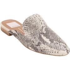 Dolce Vita para mujer Halee Cuero Tostado plana Mulas Zapatos 9.5 Medio (B, M) BHFO 7126