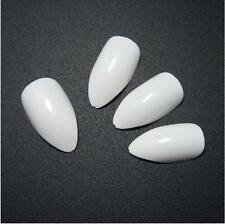 600X Nail Art Tips Oval Stiletto Pointy Full False Almond Shape Acrylic Gel Claw