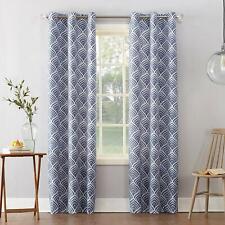 Sun Zero Cooper Geometric Print Thermal Insulated Room Darkening Grommet Curtain