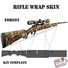 Rifle Skin Camouflage Wrap Kit. Vinyl Wrap Skin Kit for Rifle. Forest