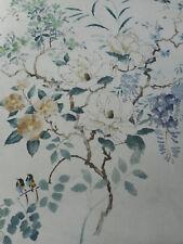 Sanderson Curtain Fabric 'Magnolia & Blossom' 1.4 METRES Mineral/Teal - Linen